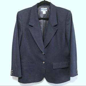 Pendleton Women's navy blue wool blazer jacket